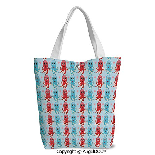 Shopping bag Cool Tote Canvas bag for Women Heart Shapes Love Themed Marine Insp