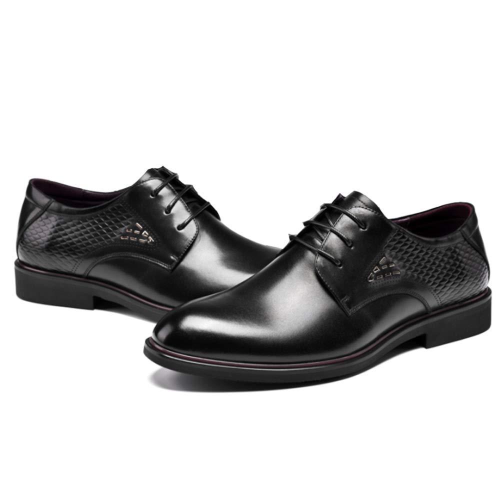 Herren Spitzen Ups Schuhe Formal Leder Schuh Komfortable Atmungsaktiv Atmungsaktiv Atmungsaktiv Beiläufig Schuhe Geeignet Für Hochzeit schwarz 284d08