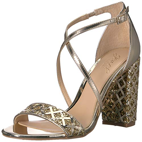 Badgley Mischka Jewel Women's Kathy Heeled Sandal Gold/Metallic 7.5 M - Sandals Metallic Jewel