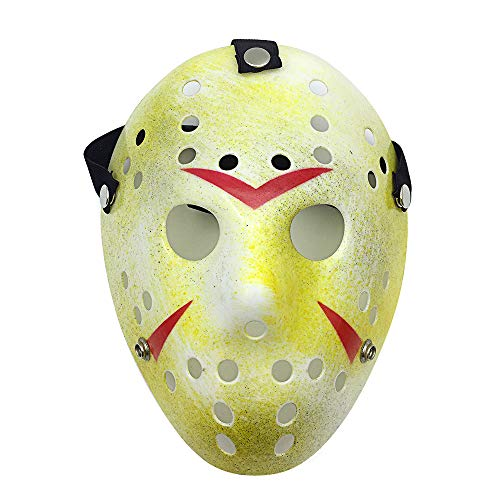 Letsparty Halloween Costume Horror Hockey Mask Party Cosplay Props, Old -