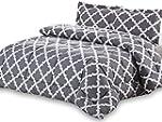 Printed Comforter Set (Grey, Queen) w...