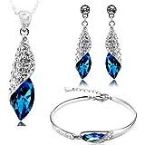 Valentine Gift By Shining Diva Italian Designer Jewellery Set for Women (Blue)(rrsdcmb208)