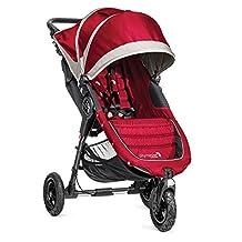 Baby Jogger City Mini GT Single Stroller, Crimson/Gray