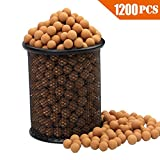 Slingshot Ammo About 1200 PCS, More Harder Professional Fired Slingshot Ammo Ball 7/20''(9mm) Hard Clay Ball, Environmentally Friendly.