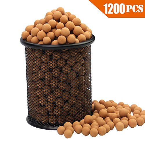 Slingshot Ammo About 1200 PCS, More Harder Professional Fired Slingshot Ammo Ball 7/20(9mm) Hard Clay Ball, Environmentally Friendly.