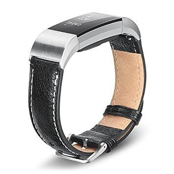 Benuo Bracelet de Fitbit Charge 2 Cuir Véritable Montre Connectée Fitbit Charge 2 Bracelet de Remplacement