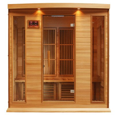 Maxxus 4 Per Low EMF FAR Infrared Carbon Canadian Red Cedar Sauna