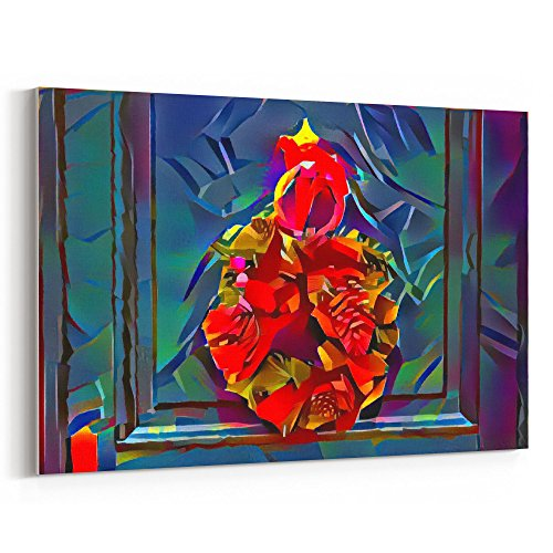 Westlake Art - Art Modern - 12x18 Canvas Print Wall Art - Canvas Stretched Gallery Wrap Modern Abstract Artwork Home Decor - Ready to Hang 12x18 Inch (White Japanese Painted Candle)