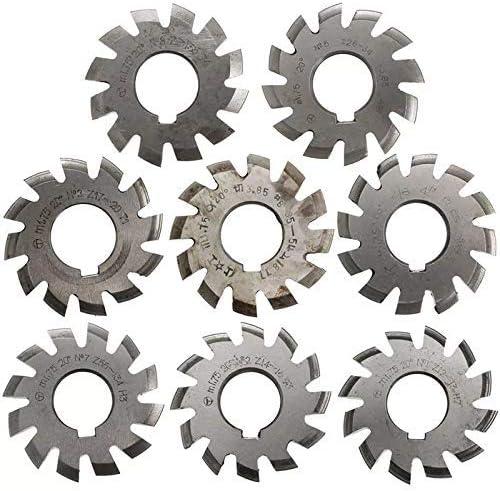 切断工具 丸鋸刃、8本モジュール1.75 PA20 HSS#1-8インボリュート歯車フライスインサイドボア22ミリメートル電気ツール
