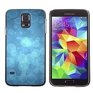 Caucho caso de Shell duro de la cubierta de accesorios de protección BY RAYDREAMMM - Samsung Galaxy S5 SM-G900 - Blue Water Dive Ocean Light