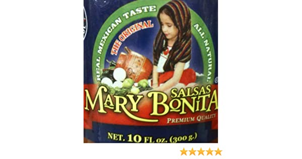 Amazon.com: Mary Bonita Salsa 10oz Bottle (Pack of 6) Choose Flavor Below (Salsa Texas - Red)