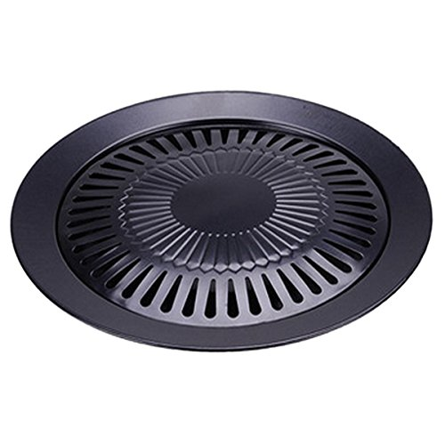 TOOGOO Non-stick 13 inch Smokeless Indoor Stovetop Barbecue BBQ Grill Kitchen Pan Griddle