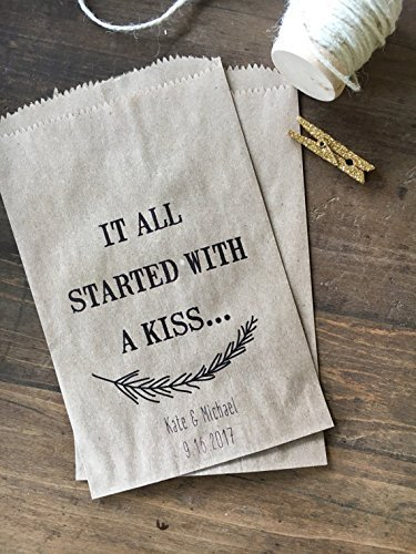 Amazon Wedding Favor Bags Kiss Favor Bags Personalized For