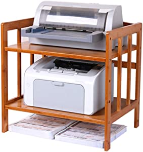 Storage Rack Printer Desktop Stand, Multifunctional Simple Wooden, Document for Home Office, Scanner Shelf Organizer, Oven Microwave Stand ZDDAB