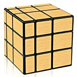 D-FantiX Shengshou Mirror Cube 3x3 Speed Cube Gold Mirror Blocks...