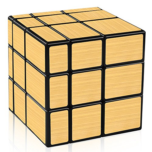 Block Mirror (D-FantiX Shengshou Mirror Cube 3x3 Speed Cube Gold Mirror Blocks Puzzle Toys)