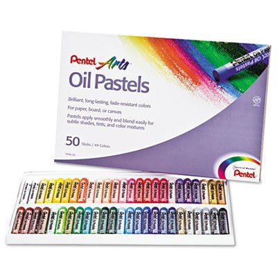 Pentel Oil Pastel Set With Carrying Case,45-Color