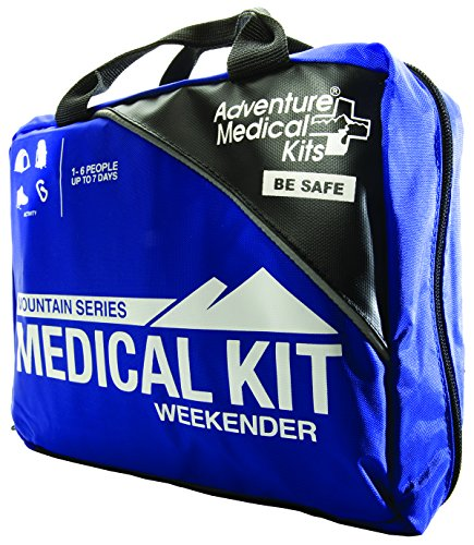 Adventure Medical Kits Mountain Series Weekender First Aid Kit, Backcountry Medical Care, Comprehensive Guide, Easy Care, Water Resistant Zipper, Durable Case, Lightweight, 1.9lb