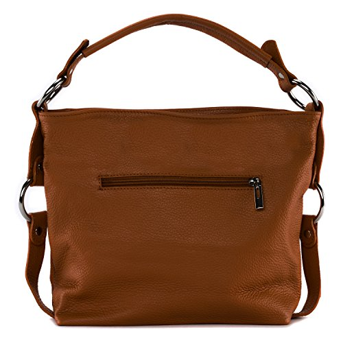 Bag S My Cognac Main À Cuir Fonce Sac En Oh 546qxwO7