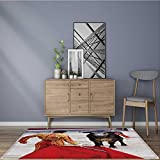 modern rugs traditional corrida bullfighting in spain bulfighting has been prohibited in catalunia Resistant Contemporary Soft Plush Quality 2' X 4'