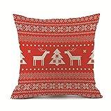 F_topbu Christmas Pillow Cases,Happy Festival Print Vogue Office Travel Plane Accessory Retro Home Decor Soft Cushion Cover