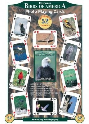 Educational Playing Card - Discover Series Fun Playing Cards - Informational & Educational (Birds of America)