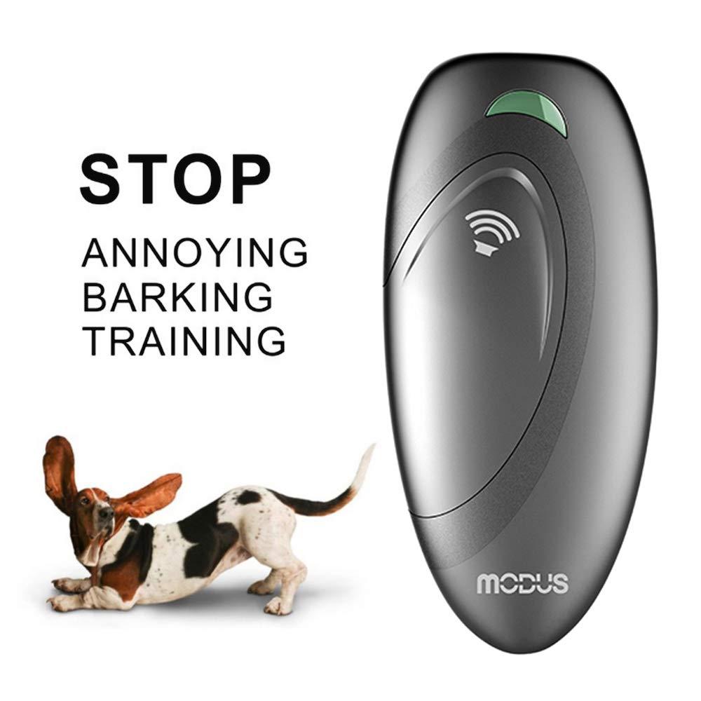 Weyio Handheld Dog Trainer Anti Barking Device Handheld ultrasonic Dog bark Deterrent with Wrist Strap Portable Dog Trainer with LED Indicator Light (Gray) by Weyio (Image #9)