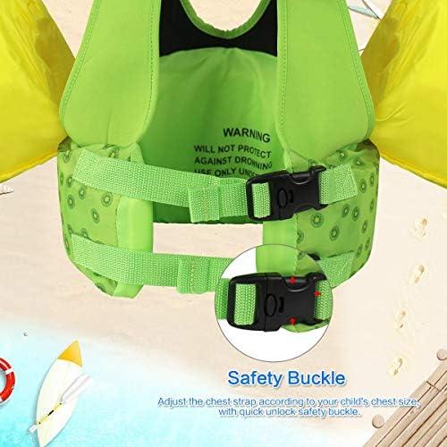 子供用ライフジャケット キッズ水泳ベスト救命胴衣 幼児用シーサイドフローティングエイド 2〜6歳男の子女の子水着ジャケット ボーイズガールズスイミング補助具水泳練習
