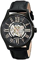 Stuhrling Original Men's 747.03 Atrium Automatic Watch with Black Leather Band