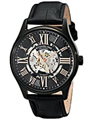 Stuhrling Original Men's 747.03 Classic Atrium Analog Display Automatic Self Wind Black Watch