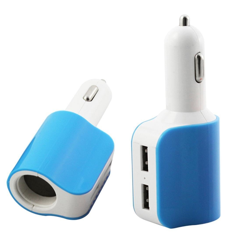 Car Charger,SMTSMT Car Cigarette Lighter Socket Splitter Charger Power Adapter (Blue)