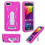BLU Advance 5.0 Case, Premium Rugged Heavy Duty Drop Proof Case With Kickstand For BLU Advance 5.0 -PINK WHITE