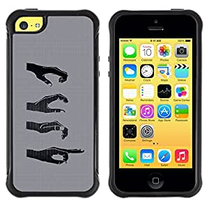 Suave TPU GEL Carcasa Funda Silicona Blando Estuche Caso de protección (para) Apple Iphone 5C / CECELL Phone case / / Hands Signs /