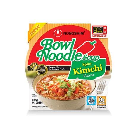 Nongshim Bowl Noodle Soup - Spicy Kimchi Flavor (12 packs)