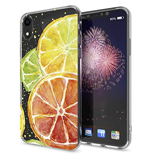 - NALIA Motif Case Compatible with iPhone XR, Pattern Design Silicone Back Cover Protector Soft Skin, Crystal Clear Gel Shockproof Smart-Phone Bumper, Slim Transparent Protective, Designs:Fruit