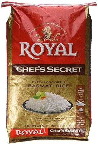 Royal Chef's Secret Extra Long Grain Basmati Rice, 40 Pound by Royal