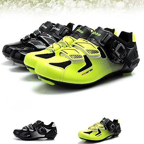 Zapatos de la bici del camino de la bicicleta deporte al aire libre zapatos de ciclo Automaticos Pedales Zapatos