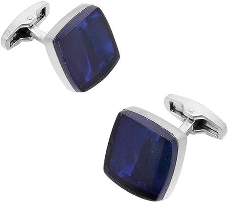 CCJIAC Gemelos Cuadrados Azul para Hombres Camisa de Boda Botones de puño Hombres Astilla Brazo Gemelos: Amazon.es: Deportes y aire libre