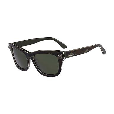 Valentino Cloutés Wayfarer Lunettes De Soleil Style En Camouflage Vert  V656sc 316 53 a227f1881d26