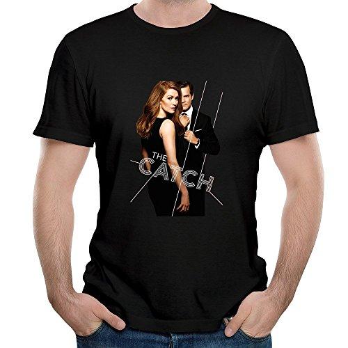 Gody Men's The Catch Tv Show Poster Watch Online O-neck Music Tshirt Black ()