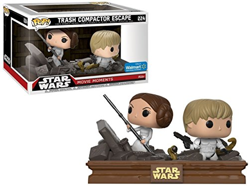 Funko POP! Exclusive Star Wars: Movie Moments - Luke Skywalker and Princess Leia Trash Compactor