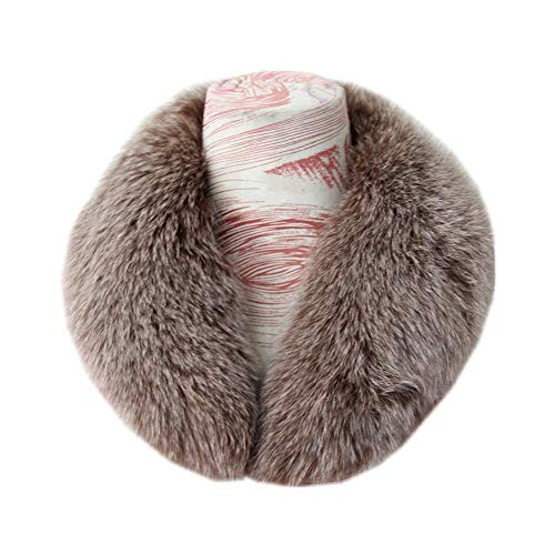 Women's Warm Real Fur Stand-up Collar Scarf Soft Neck Warmer Winter
