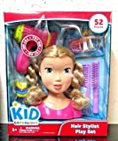 Kid Connection Hair Stylist Play Set- Blonde Styling Head Doll