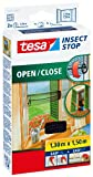 tesa 55033-00021-00 Insect Stop Hook and Loop Open/Close, Easy-On and Easy-Off Insect Screen For windows 1.30 x 1.5 m - Anthracite