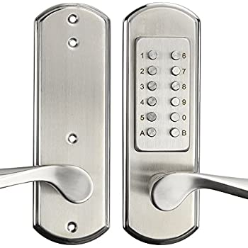 Faultless G2x2lyed0aa Electronic Keypad Lever Satin