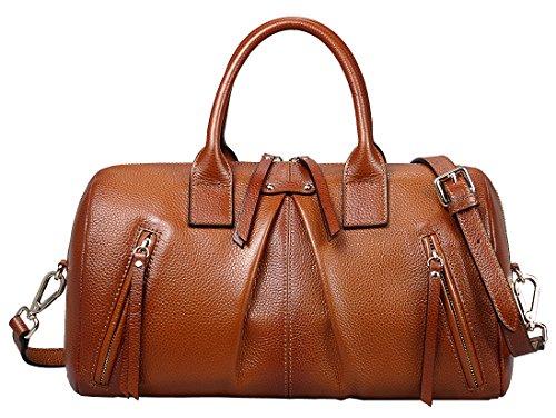 AINIMOER-Womens-Genuine-Leather-Vintage-Handbags-Top-Handle-Tote-Crossbody-Shoulder-Bag-Ladies-Purse