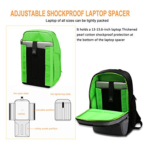 WindTook 15.6inch Business Laptop Backpack with USB Charging Port for Women Men,School College Travel Backpack