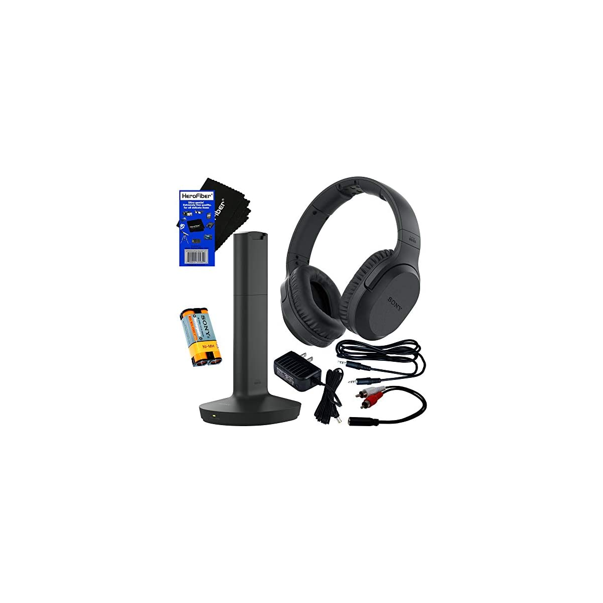 Sony Wireless Over Ear Noise Reduction Headphones Whrf400r With Transmitter Dock Tmrrf400 Sony Rechargeable Battery Connecting Cables Ac Adaptor Herofiber Cleaning Cloth Welcome To Kennedy S Life Coach Business Solutions