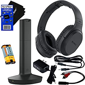 Sony Wireless Over-Ear Noise Reduction Headphones (WHRF400R) with Transmitter Dock (TMRRF400) + Sony Rechargeable…