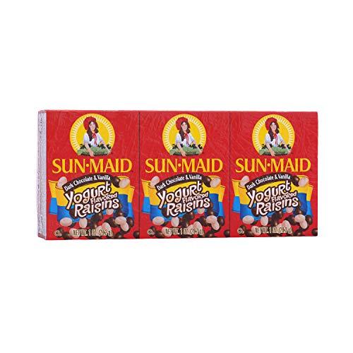 - Sun-Maid Sun-Maid Chocolate & Vanilla Yogurt Flavored Raisins 6/1oz, 1 oz